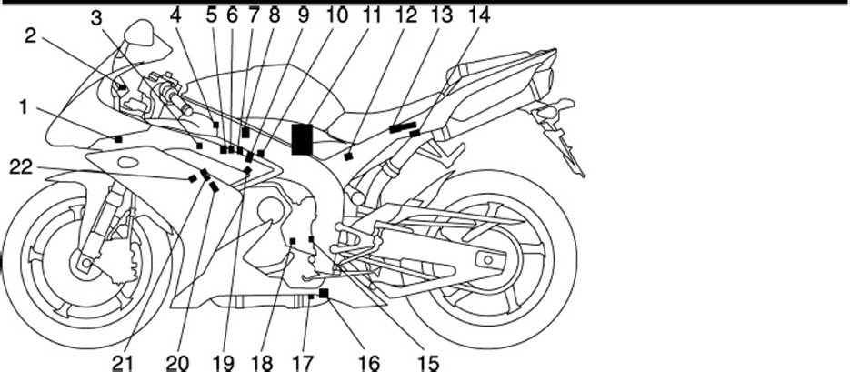 outline of the 2007 yamaha r1 fi system